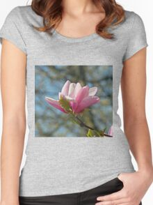 Magnolia flower Women's Fitted Scoop T-Shirt