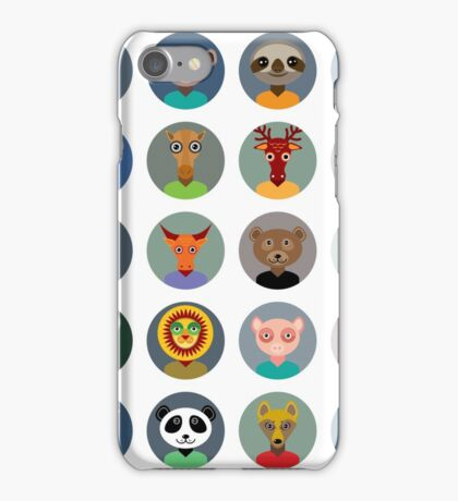 Animal faces design iPhone Case/Skin