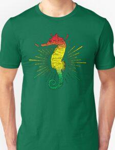 Seahorse with Reggae Music Flag Colors! Unisex T-Shirt