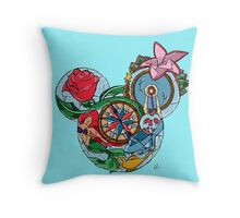 Princesses Combined Throw Pillow