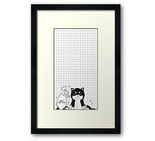 cute puppy Framed Print