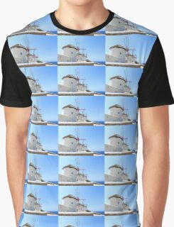 Traditional Windmills on Mykonos Graphic T-Shirt
