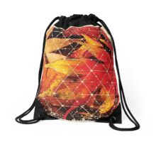 Nature and Geometry - Autumn Leaves 2 Drawstring Bag