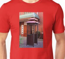 Phone Booth with a Chinese Flair Unisex T-Shirt