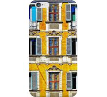 Old italian palace with traditional windows iPhone Case/Skin