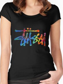 Stussy Colorful Logo Women's Fitted Scoop T-Shirt