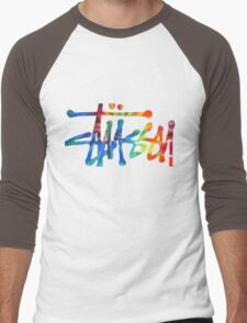 Stussy Colorful Logo Men's Baseball ¾ T-Shirt