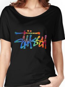 Stussy Colorful Logo Women's Relaxed Fit T-Shirt