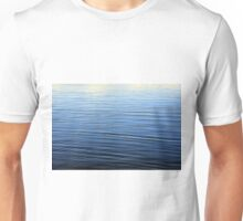 Ripples in the blue water pattern. Unisex T-Shirt