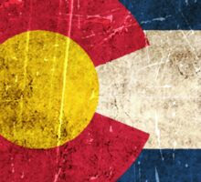 Vintage Aged and Scratched Colorado Flag Sticker