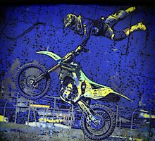 """Airborne"" FMX Motocross freestyle Stunt Rider by NaturePrints"