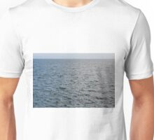 Natural background the calm blue sea. Unisex T-Shirt