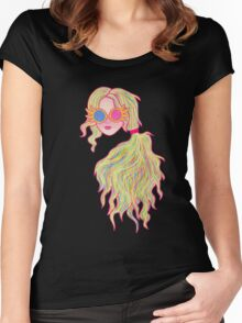 Psychedelic Luna Lovegood Women's Fitted Scoop T-Shirt