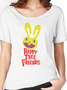 Juxtaposes Cute Forest Animals With Extreme Graphic Violence Women's Relaxed Fit T-Shirt