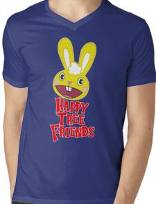Juxtaposes Cute Forest Animals With Extreme Graphic Violence Mens V-Neck T-Shirt