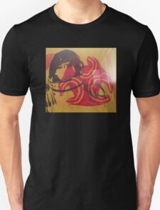 (Silk screen print ) Astronaut Bio Hazard   Unisex T-Shirt