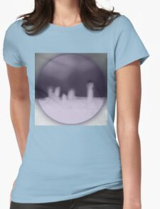 Mauve City Womens Fitted T-Shirt