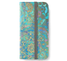 Sapphire & Jade Stained Glass Mandalas iPhone Wallet/Case/Skin