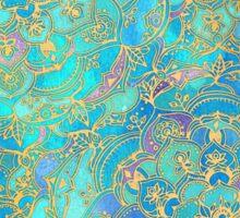 Sapphire & Jade Stained Glass Mandalas Sticker