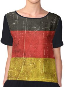 Vintage Aged and Scratched German Flag Chiffon Top