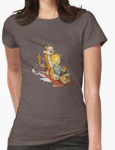 Calvin And Hobbes Speed Womens Fitted T-Shirt
