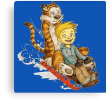 Calvin And Hobbes Speed Canvas Print