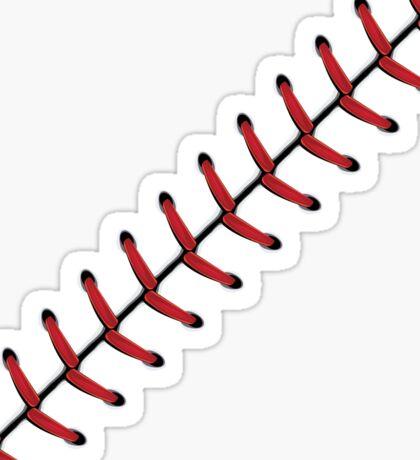 Baseball Lace Background 2 Sticker