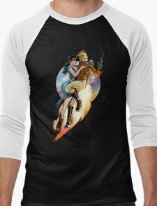 flaming skies Men's Baseball ¾ T-Shirt