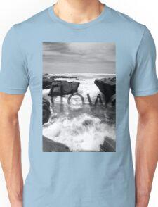 Black and White Beach Unisex T-Shirt