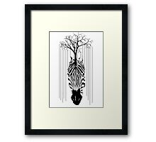 The line of tree and zebra Framed Print