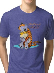Calvin and hobbes Hugs Tri-blend T-Shirt