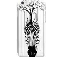 The line of tree and zebra iPhone Case/Skin