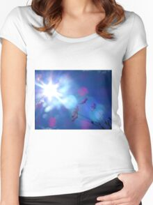 Hope: Beautiful flowers and Sun flare Women's Fitted Scoop T-Shirt