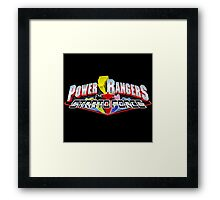 mighty mhorpin power rangers Framed Print