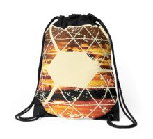 Nature and Geometry - Sunset Sky Drawstring Bag