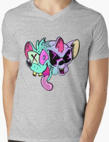 Pinky And Brain Mens V-Neck T-Shirt
