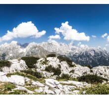 mountain peak in a summer day Sticker
