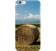 hay bales in the field iPhone Case/Skin