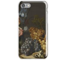 Vintage famous art - Balthasar Van Der Ast  - Still Life Of Flowers, Fruit, Shells, And Insectsabout 1629  iPhone Case/Skin