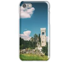 ancient and ruined castle in the italian countryside iPhone Case/Skin