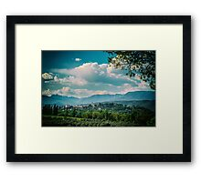 An old village in the italian countryside Framed Print