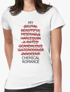 Music/Humour - My ________ Romance Womens Fitted T-Shirt