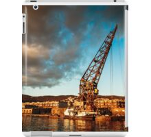 An old crane in the port of Trieste iPad Case/Skin