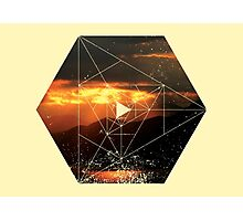 Nature and Geometry - Sunset and Mountains Photographic Print