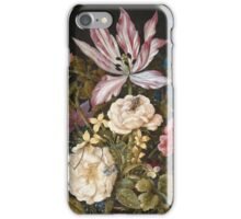 Vintage famous art - Balthasar Van Der Ast  - Still-Life With Flowers iPhone Case/Skin