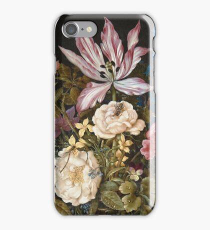 Vintage famous art - Balthasar Van Der Ast  - Still-Life With Flowers iPhone Case/Skin