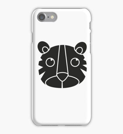 cute animal in black  iPhone Case/Skin