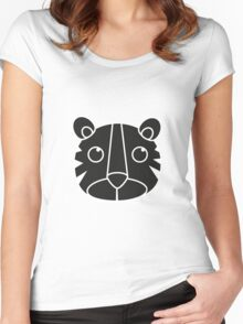 cute animal in black  Women's Fitted Scoop T-Shirt