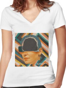 The Jungle Giants (Lern to exist) Women's Fitted V-Neck T-Shirt