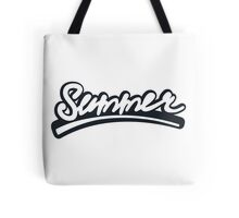 Graffiti of summer with black   Tote Bag
